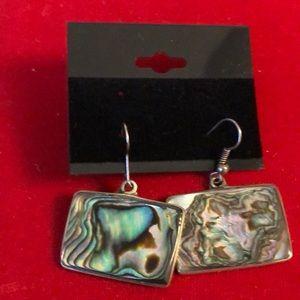 Jewelry - Vintage  Silver Alpaca Mexico Pierced Earrings
